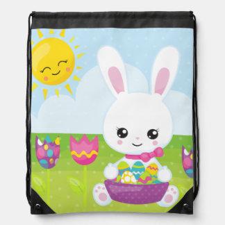 Cute Little Easter Bunny Drawstring Bag