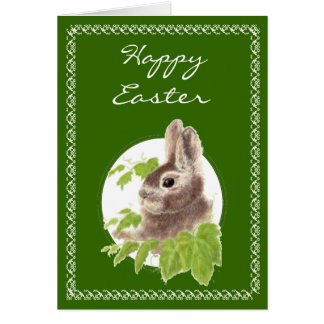 Cute Little Easter Bunny for Someone Special Card