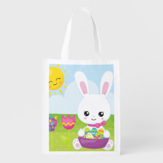 Cute Little Easter Bunny Reusable Grocery Bag