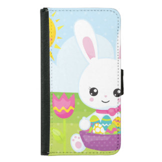 Cute Little Easter Bunny Samsung Galaxy S5 Wallet Case