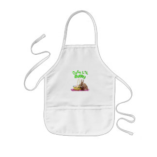Cute Little Easter Bunny with Easter Eggs Kids' Apron