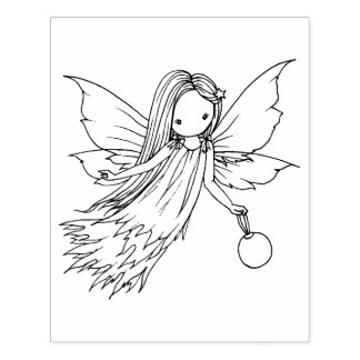 Cute Little Fairy Illustration by Molly Harrison Rubber Stamp