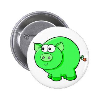 Cute Little Farm Pig Button