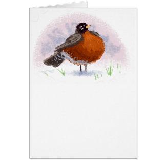 Cute little Fat Robin Card