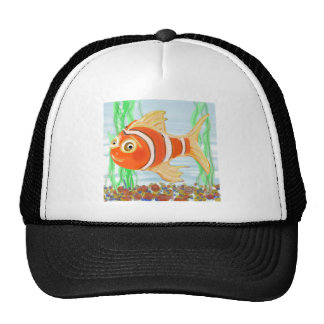 Cute Little Fishie Swimming In A Pool Cap