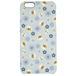 cute little flowers and bees clear iPhone 6 plus case