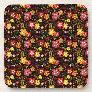 Cute little flowers coaster