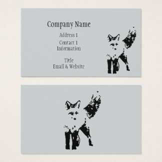 Cute Little Fox Animal Nature  Art Business Card