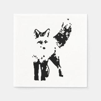 Cute Little Fox Animal Nature  Art Disposable Napkin