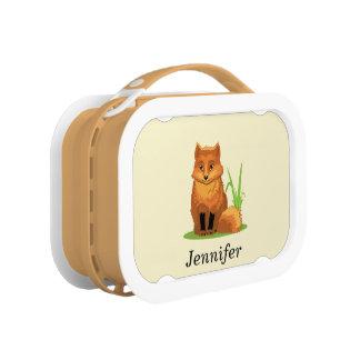 Cute Little Fox Back to School Lunch Box