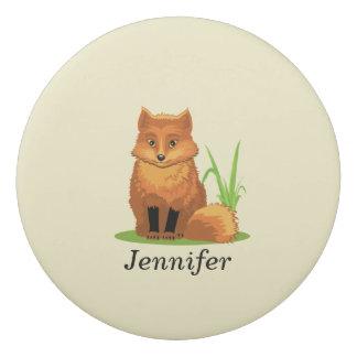 Cute Little Fox Back to School Round Eraser