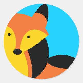 Cute little Fox Round Sticker