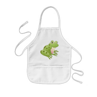 Cute Little Frog Kids Apron