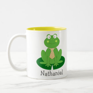 Cute Little Froggy with a Tie Personalized Mug
