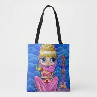 Cute Little Genie Girl & Magic Bottle Tote Bag