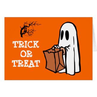 Cute Little Ghost Trick or Treat Fun Halloween Greeting Card