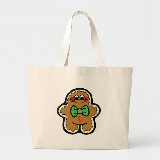 cute little gingerbread man tote bags