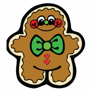 cute little gingerbread man photo cut out