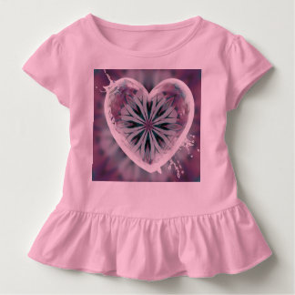 Cute little girl dress with heart