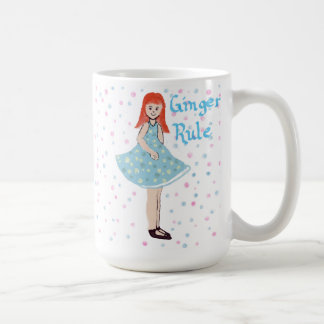 "Cute Little Girl ""Ginger's Rule"" Mug"