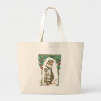 Cute Little Girl Holly Jumbo Tote Bag