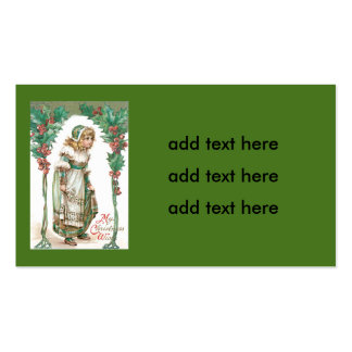 Cute Little Girl Holly Pack Of Standard Business Cards