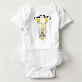 Cute Little Girl on a Swing Personalized Baby Bodysuit