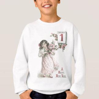 Cute Little Girl Rose Roses Bouquet Sweatshirt