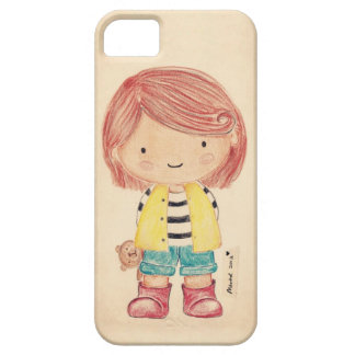 Cute Little Girl with Her Teddy iPhone 5 Cover