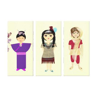 Cute little Girl's Set of Canvas Picture Prints Canvas Print