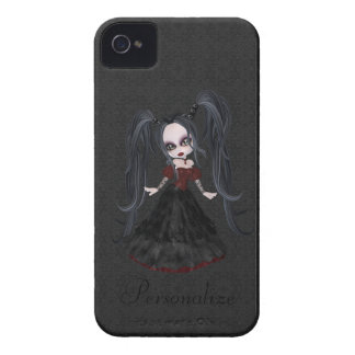 Cute Little Goth Girl BlackBerry Bold Personalized iPhone 4 Case