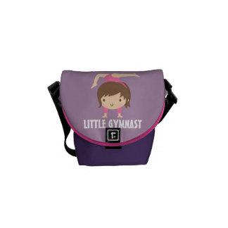 Cute Little Gymnast Girl Gymnastics Pose Commuter Bag