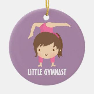 Cute Little Gymnast Girl Gymnastics Room Decor Ceramic Ornament