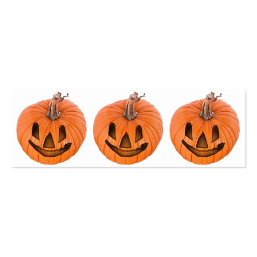 Cute Little Halloween Jack-o-Lanterns Business Card