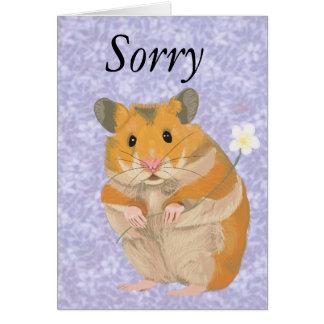 Cute little Hamster holding a flower Card
