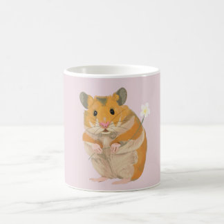 Cute little Hamster holding a flower Coffee Mug