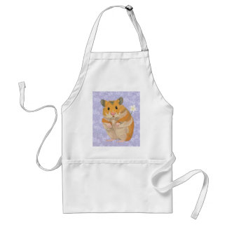 Cute little Hamster holding a flower Standard Apron