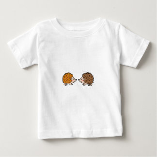Cute little hand drawn hedgehogs in love baby T-Shirt