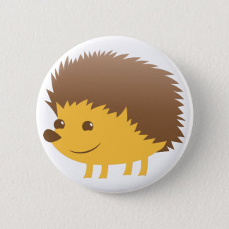 cute little hedgehog 6 cm round badge