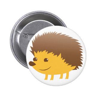 cute little hedgehog 6 cm round badge