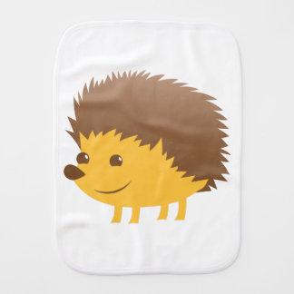 cute little hedgehog burp cloth