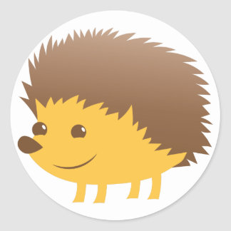 cute little hedgehog classic round sticker