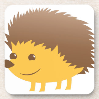 cute little hedgehog drink coasters