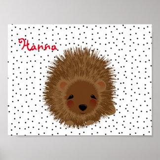 Cute Little Hedgehog Illustration Print