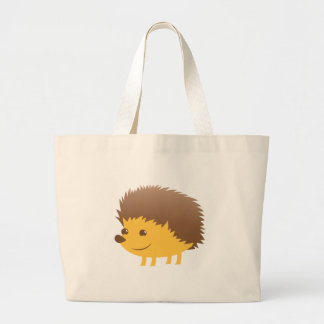 cute little hedgehog large tote bag