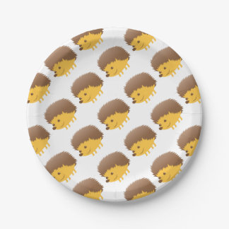 cute little hedgehog paper plate