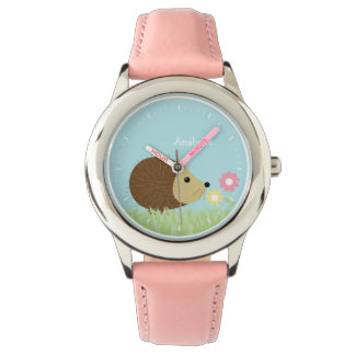 Cute Little Hedgehog Personalized Watch