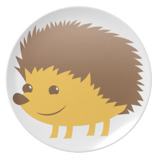 cute little hedgehog plate