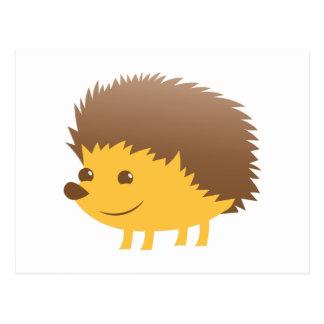 cute little hedgehog postcard
