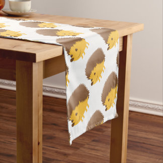cute little hedgehog short table runner